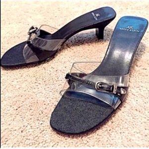 🔷BOGO🔷🆕 Anne Klein kitten heel clear sandals 7